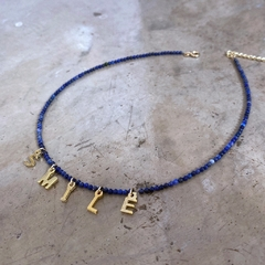 YOU AGAIN BLUE CHOKER (personalizable)