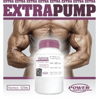 2 POTES VEINOX EXTRA PUMP 120CAPS - POWER SUPPLEMENTS