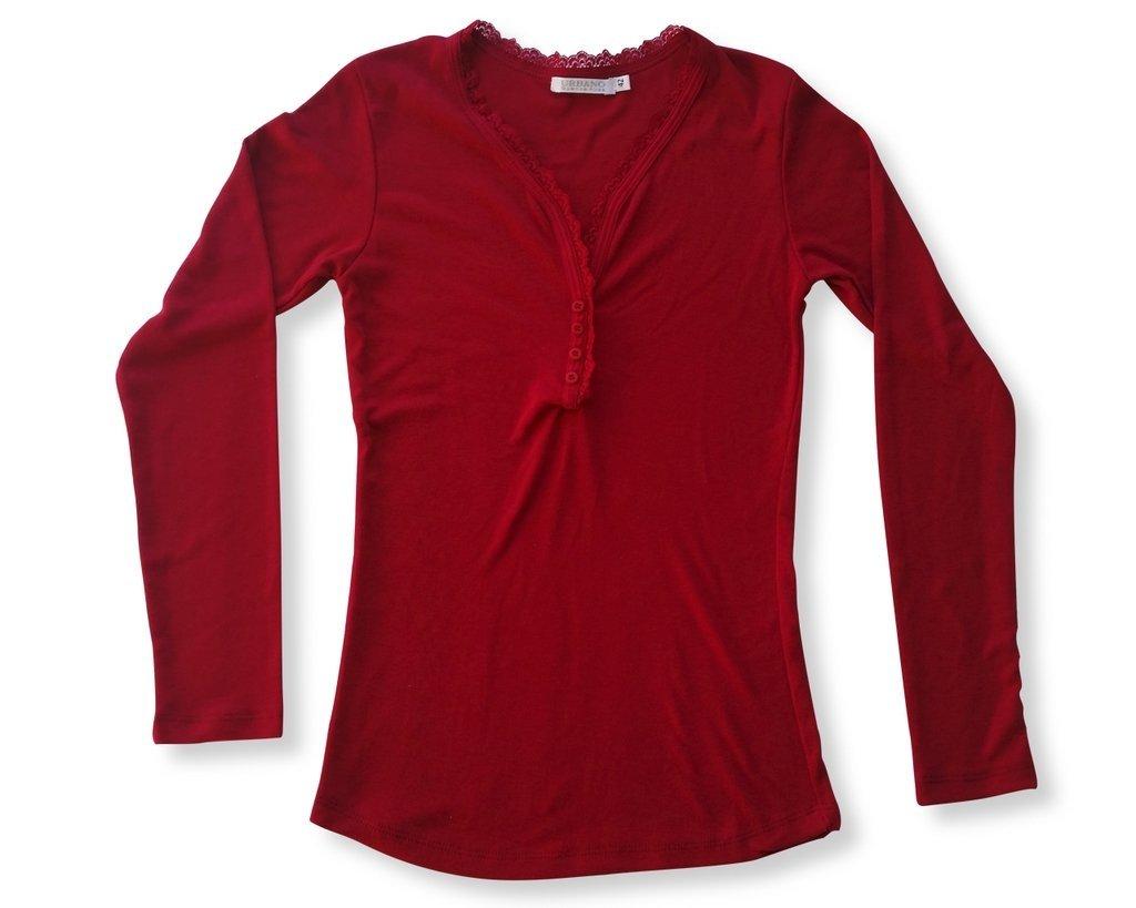 508ddd3307f2a Remera de mujer cuello en v con botones