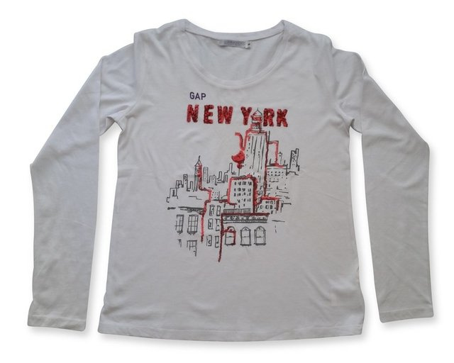 Remera estampada new york