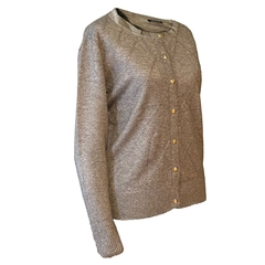 CARDIGAN CON ROMBOS Y STRASS