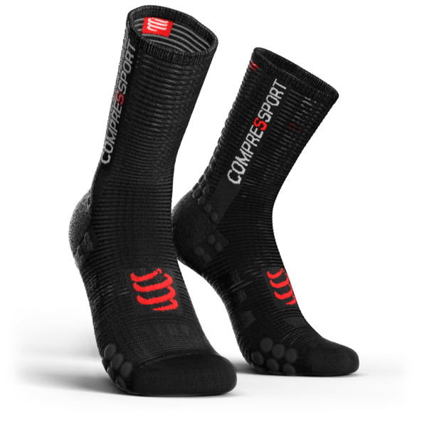 MEIA COMPRESSPORT PRO RACING SOCKS V3.0 BIKE PRETA