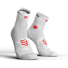 MEIA COMPRESSPORT PRO RACING SOCKS V3.0 RUN BRANCA