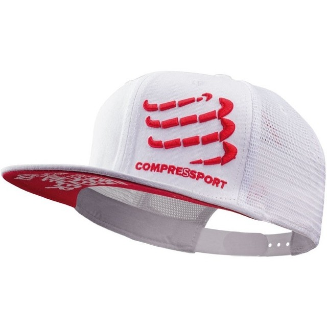 BONÉ TRUCKER CAP COMPRESSPORT - BRANCO