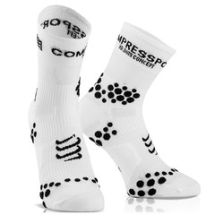 MEIA COMPRESSPORT RUN PRO RACING SOCKS V2.1 CANO ALTO BRANCA E PRETA