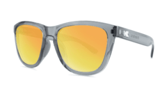 Óculos de Sol Knockaround Premiums Sport - Clear Grey / Sunset na internet