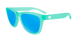 Óculos de Sol Knockaround Premiums - Frosted Rubber Mint / Aqua