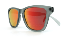 Óculos de Sol Knockaround Classics - Frosted Grey / Red Sunset na internet
