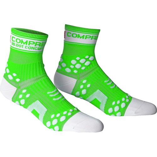 Meia Compressport Pro Racing Socks Fluo Green