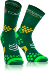 MEIA COMPRESSPORT TRAIL V2.1 PRO RACING SOCKS CANO ALTO VERDE
