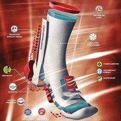MEIA COMPRESSPORT PRO RACING SOCKS V3.0 RUN BRANCA - TRI Designs