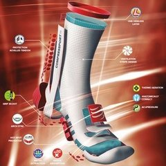 MEIA COMPRESSPORT PRO RACING SOCKS V3.0 RUN ROSA - TRI Designs