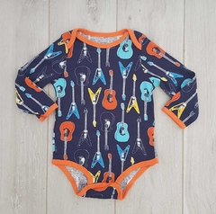 "OUTLET - Body ""azul con guitarras """