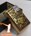 Encendedor Zippo - Gold Floral Flourish con Relieve ! 28207 en internet