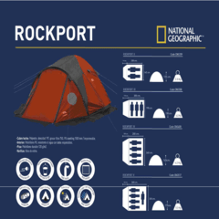 Carpa National Geographic Rockport 4 Personas Impermeable en internet