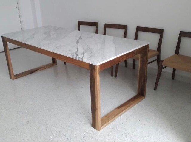 Mesa tobal madera y marmol comprar en amparo be - Mesas de marmol y cristal ...