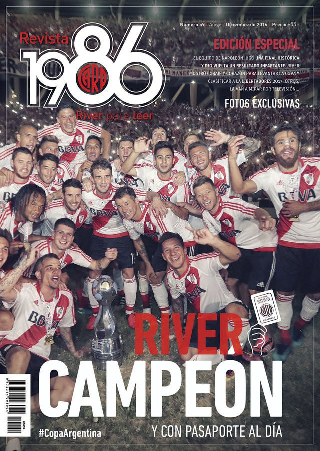 Pack River Campeón - Revista 1986