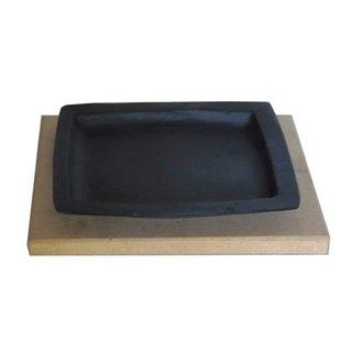 Bifeteira de ferro 20x16cm com Tepan Madeira