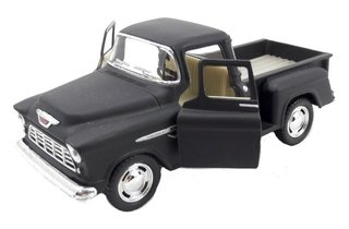 Chevy Stepside Pick-up 1955 1/32 Metal Preta