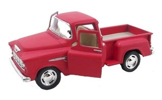 Chevy Stepside Pick-up 1955 1/32 Metal Vermelha