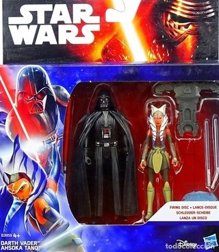 STAR WARS VII 10 CM  DARTH VADER & AHSOKA TANO 2-PACK HASBRO