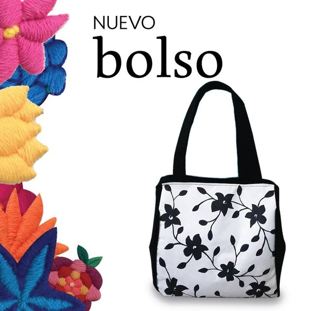 PROMO MIX Pack de bordado mexicano + Bolso flores negras en internet
