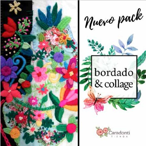 NUEVO Pack de BORDADO Y COLLAGE