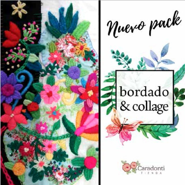 Pack de BORDADO Y COLLAGE