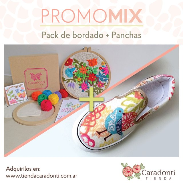 Promo MIX:  Pack de bordado + Panchas