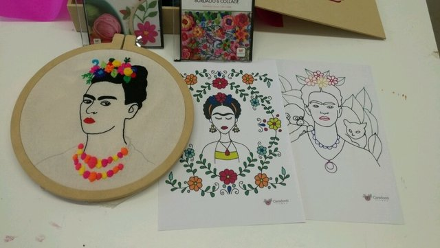 Nuevo Pack de Bordado Frida Kahlo - Desiree Caradonti