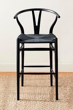 BANQUETA WISHBONE TOTAL BLACK - Kikely