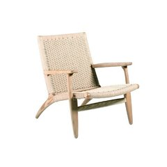 Poltrona CH 25 Lounge Chair Rattan