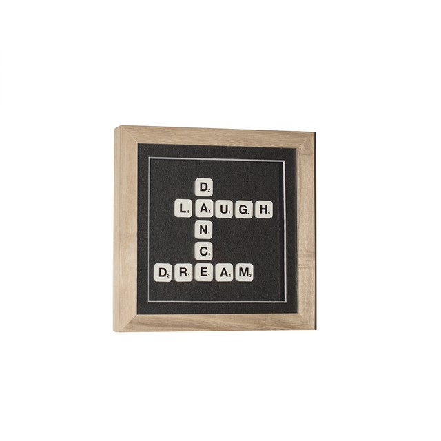 Cuadro Scrabble Laugh Dance Dream
