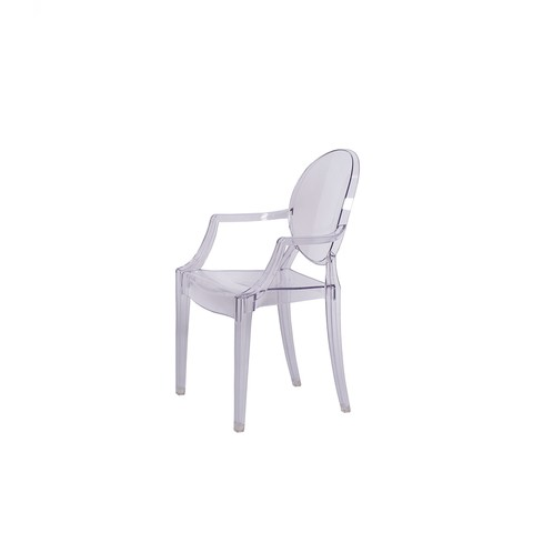 Sillon Louis Ghost Kids Transparente