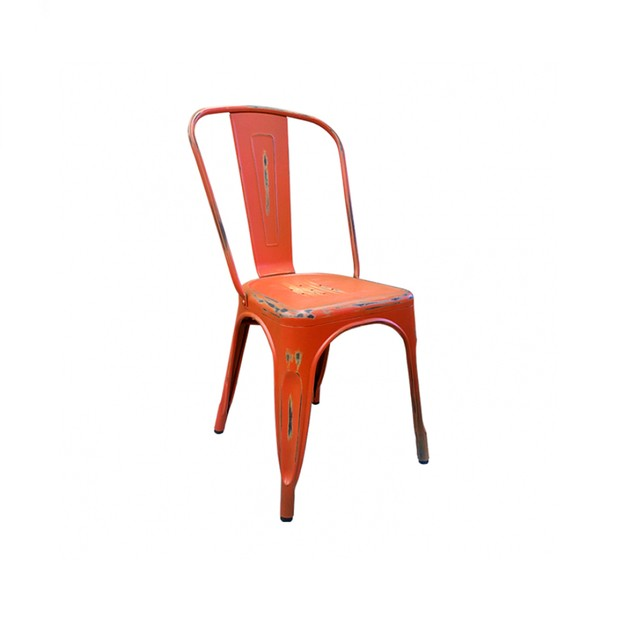 Silla Tolix Naranja Antique
