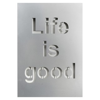 Cuadro Decorativo Chapa Metal Gris: Life is Good (50x35)