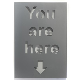 Cuadro Decorativo Chapa Metal Gris: You Are Here (50x35)