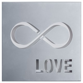 Cuadro Decorativo Chapa Metal: Infinito Love (30x30)