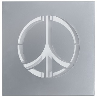 Cuadro Decorativo Chapa Metal: Peace (30x30)