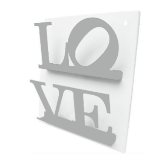 REVISTERO DE PARED LOVE BLANCO Y GRIS