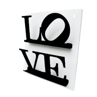 REVISTERO DE PARED LOVE BLANCO Y NEGRO