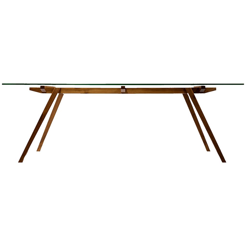 Mesa comedor madera y vidrio 15mm 150x80 a medida for Mesas comedor escandinavas
