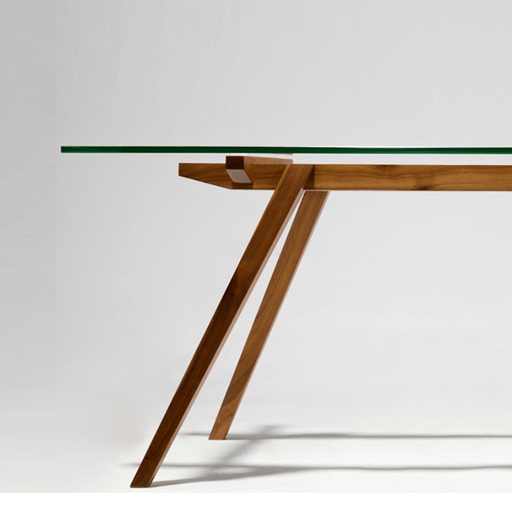 Mesa comedor madera y vidrio 12mm 150x80 a medida - Madera a medida ...