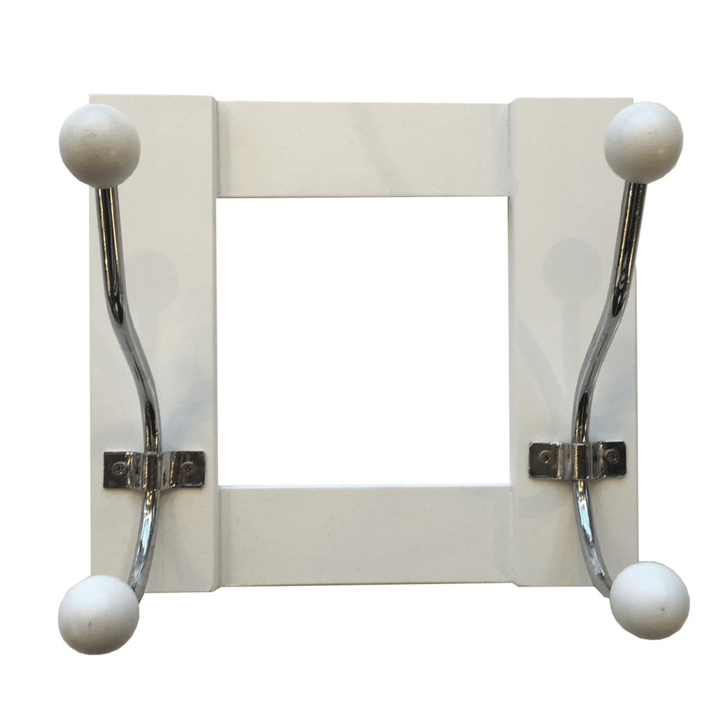 Perchero de pared madera blanco x2 gift collection - Perchero pared blanco ...