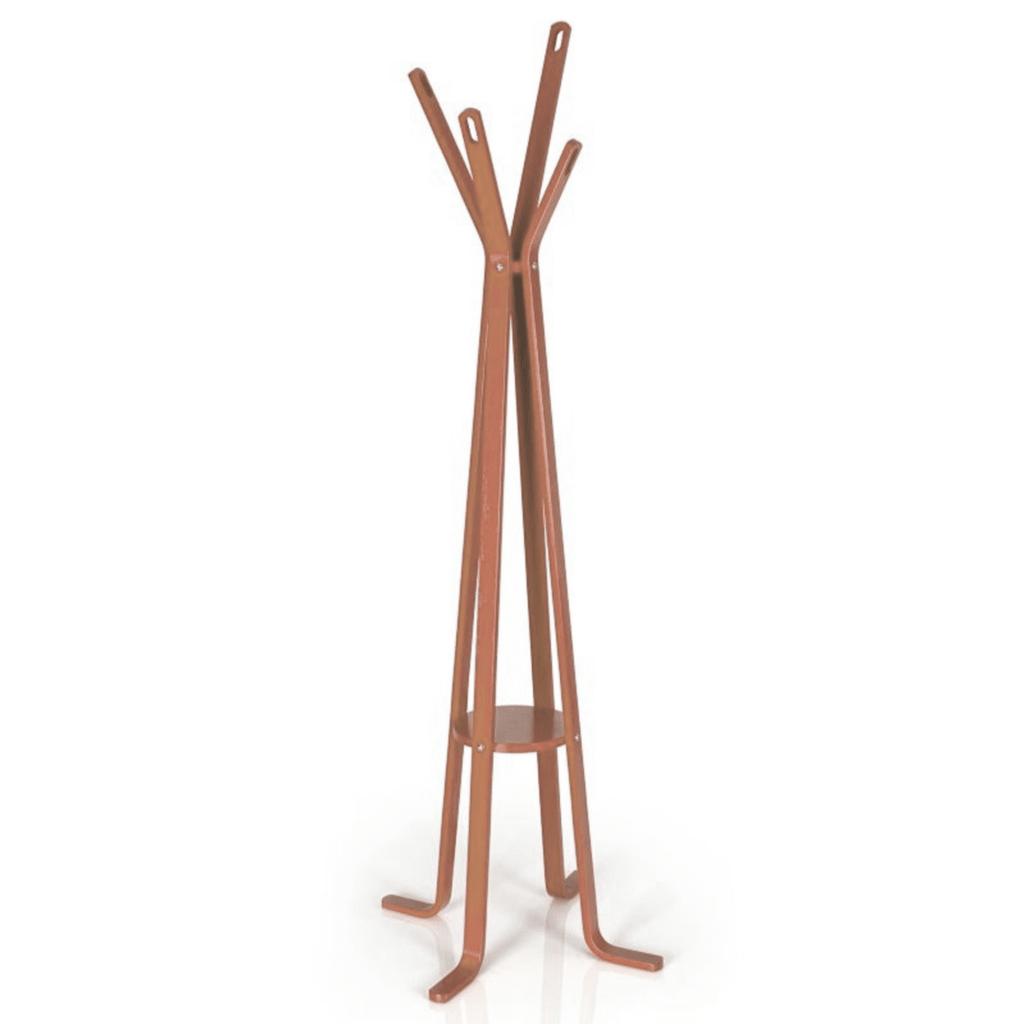 Perchero calado de pie madera camel gift collection for Perchero pared sin agujeros
