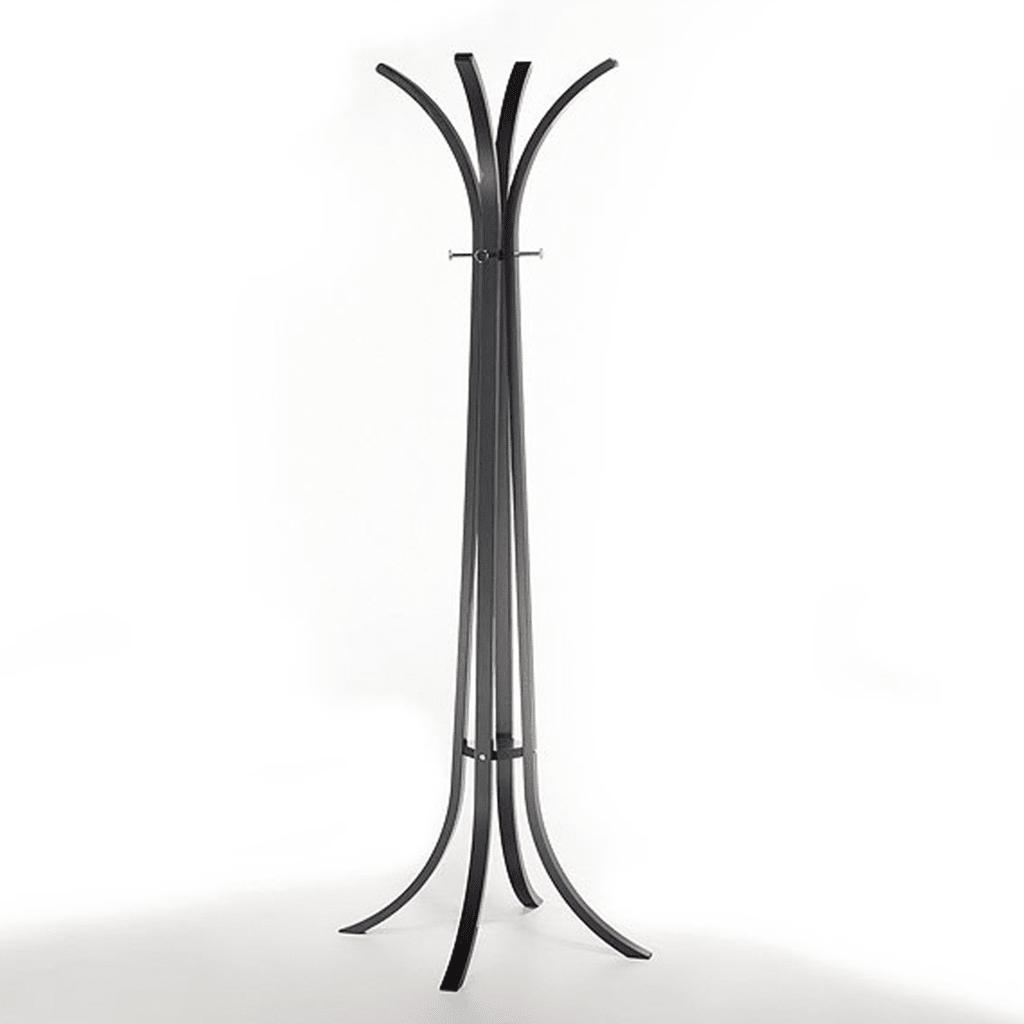 Perchero de pie madera negro gift collection for Percheros de pie conforama