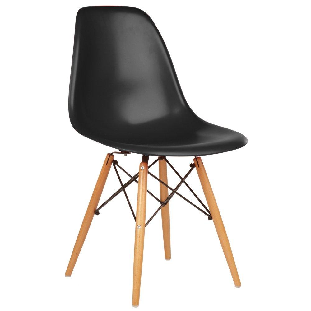silla eames pata madera negra dsw - Eames Silla