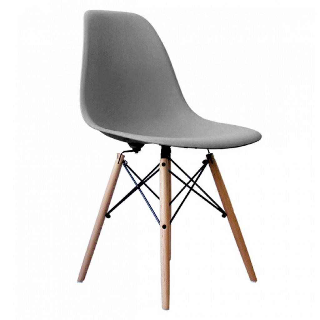 silla eames pata madera gris dsw - Sillas Eames