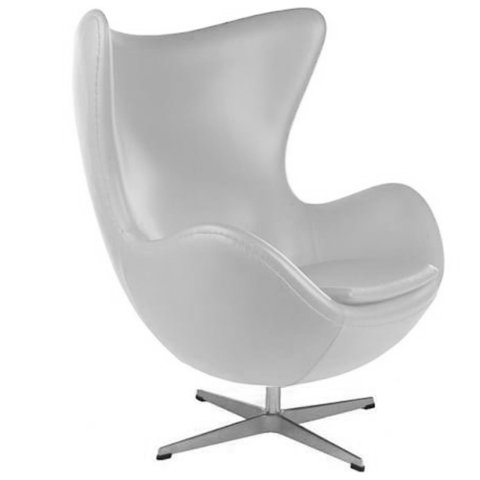 Sillón Jacobsen Egg (Blanco)
