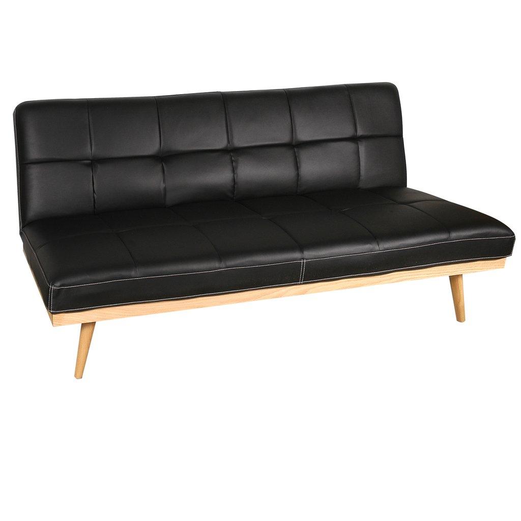 Sof cama reclinable moderno negro for Cama reclinable